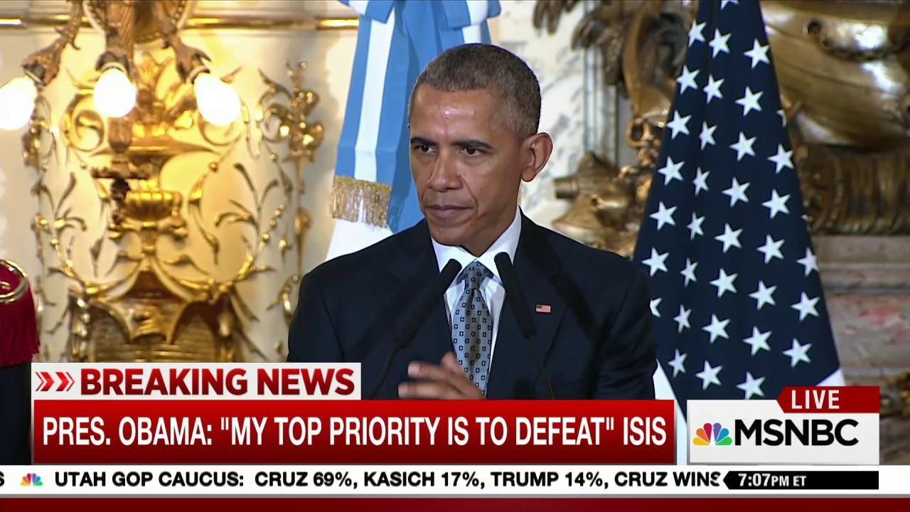 Pres. Obama: Top priority is to defeat ISIS
