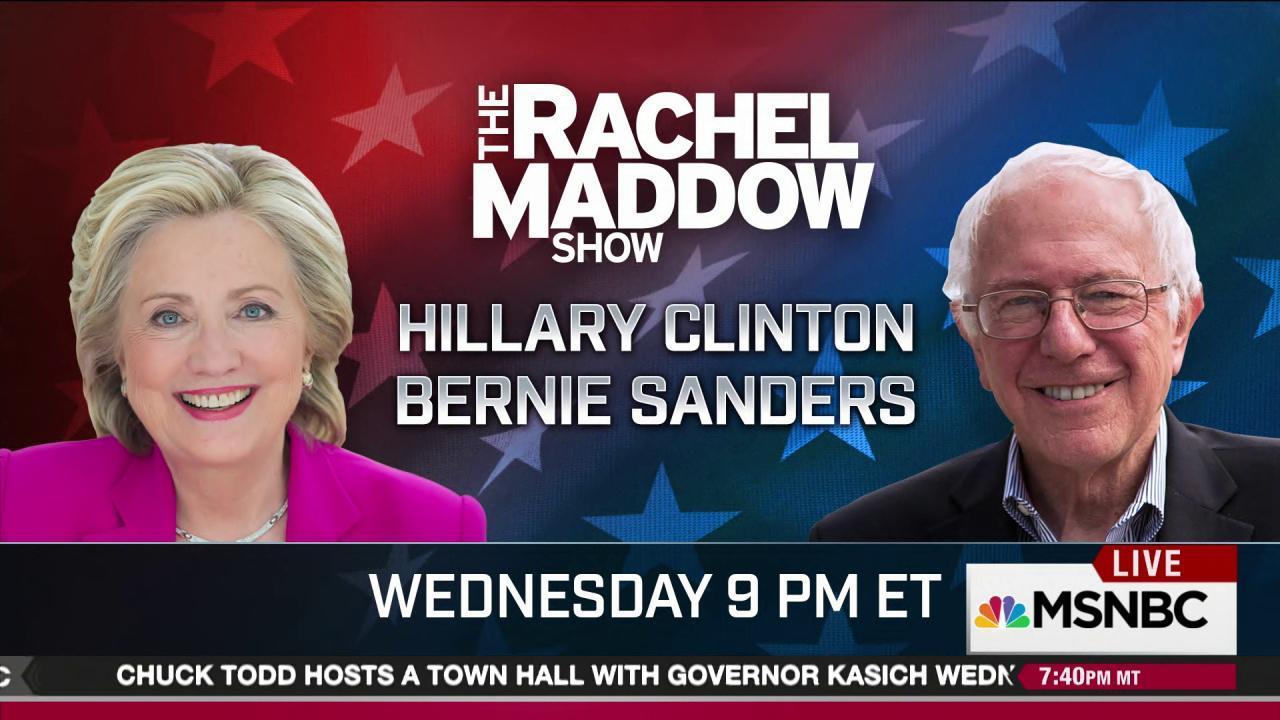 Huge night Wednesday on MSNBC