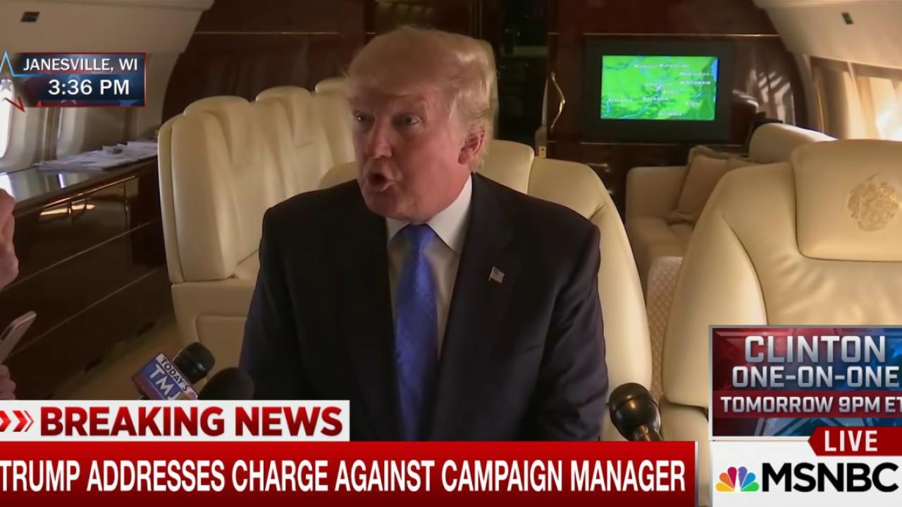Trump on reporter: 'She was grabbing me'