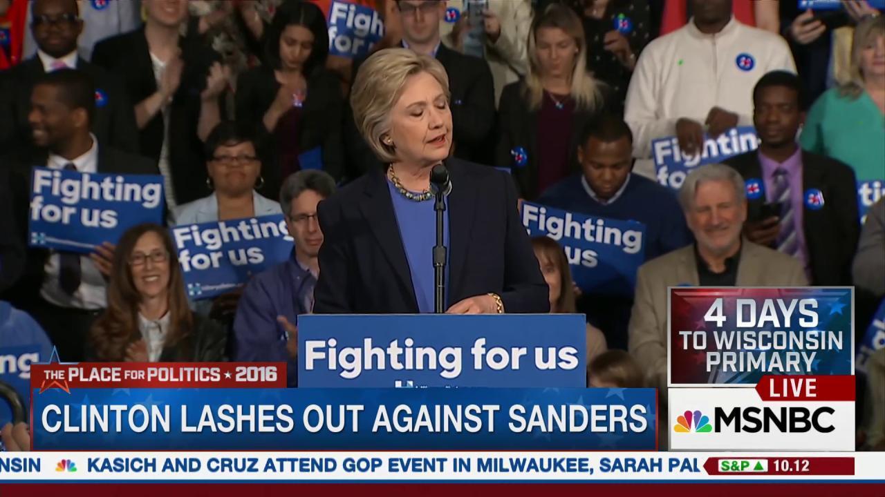 Clinton battles against both Trump, Sanders
