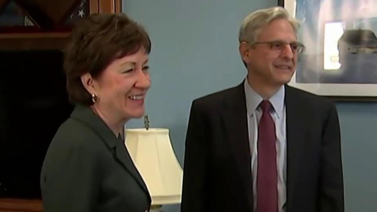 Sen. Collins urges GOP to meet with Garland