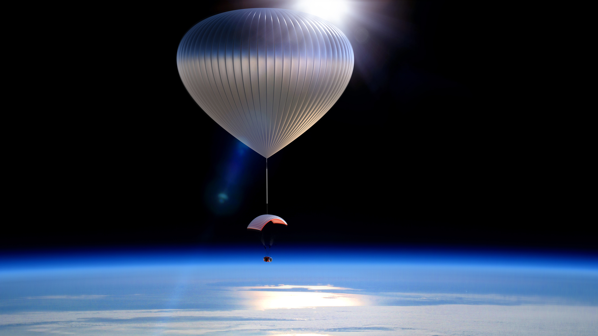 world view balloon lofts nasa experiments to near space heights