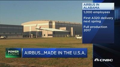 Airbus Opens First U.S. Factory, Challenging Boeing on Home Turf