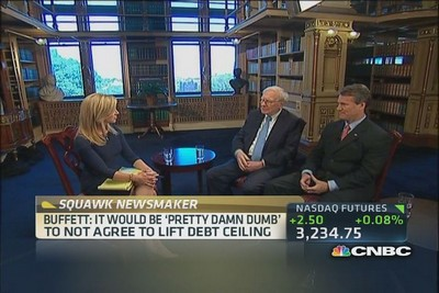 CNBC's Becky Quick sits down with Warren Buffett, Berkshire Hathaway chairman & CEO, and Brian Moynihan, Bank of America CEO, to talk about the debt ceiling, Obamacare and creating jobs in the U.S.