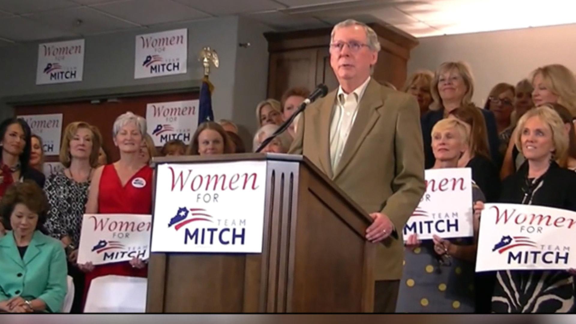 An ad glitch for Team Mitch