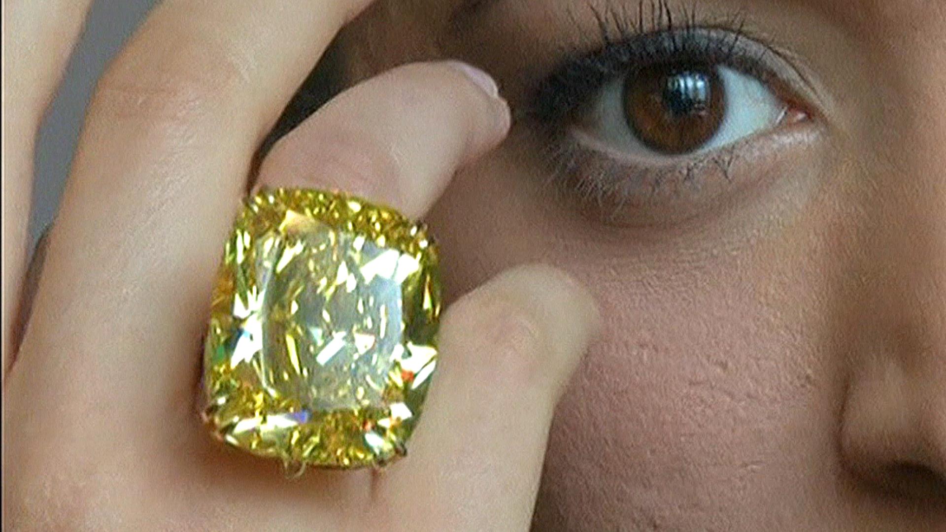 Record Bid Captures 100 Carat Yellow Diamond