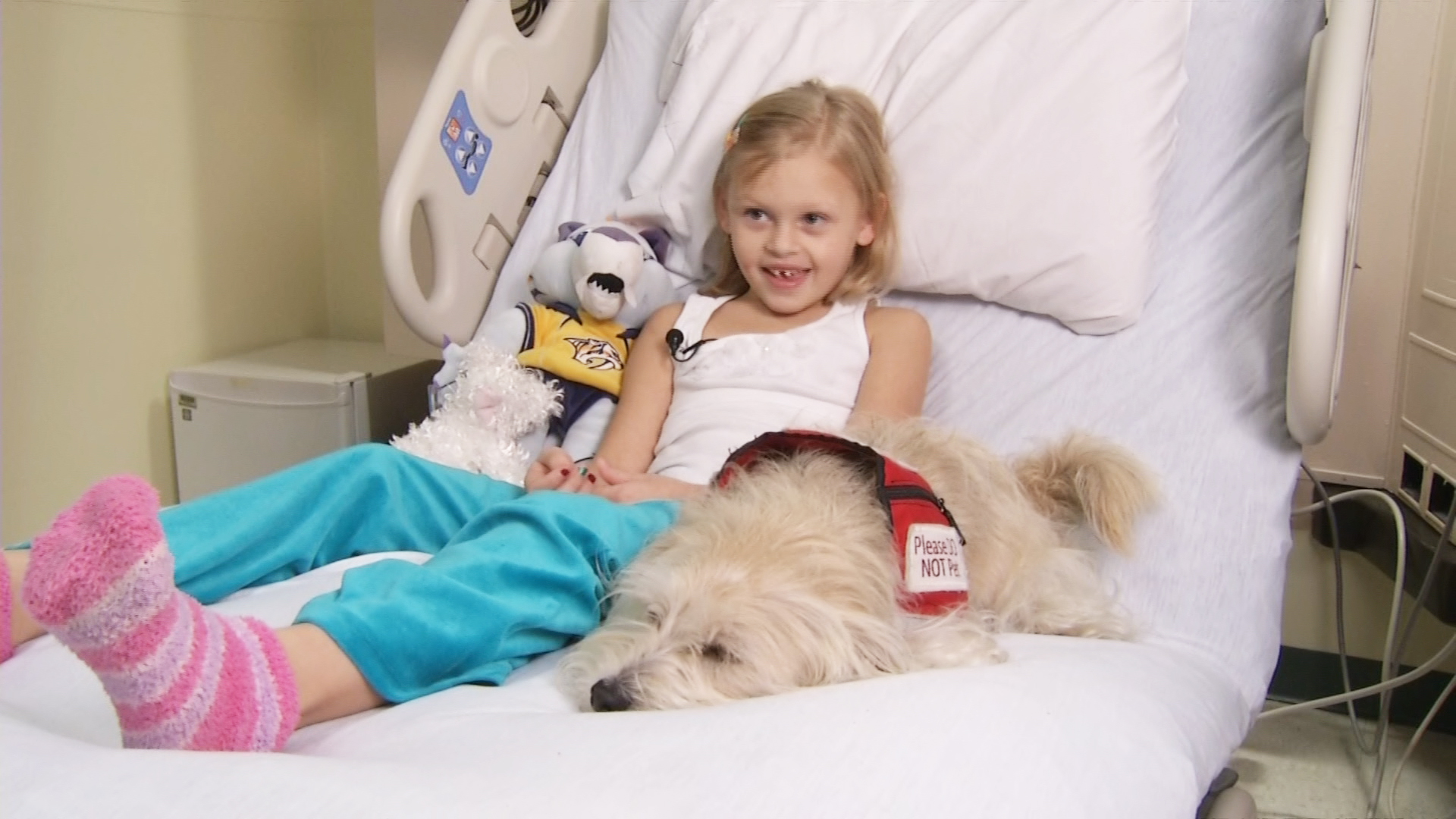 Little Angel Rescue Dog Helps Doctors Monitor Girl