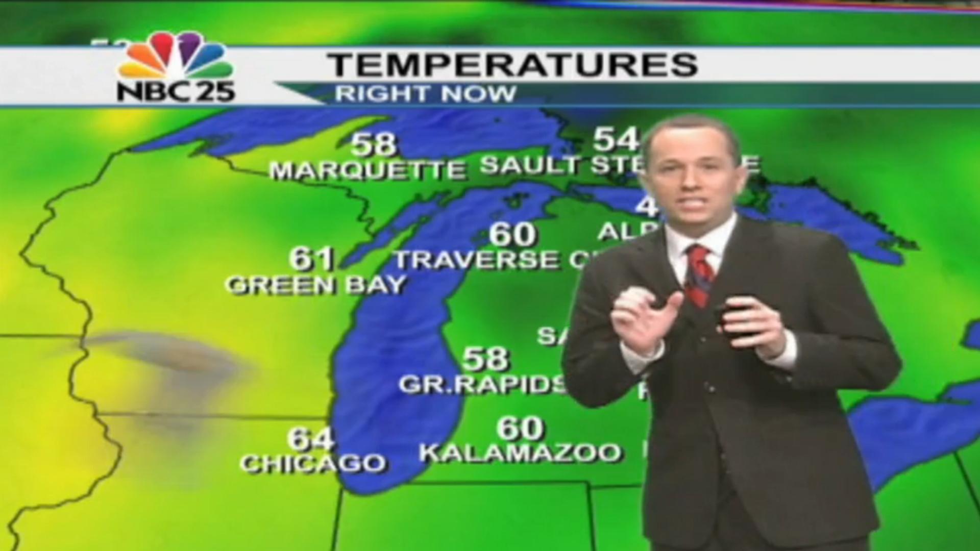 Bat Interrupts Michigan Meteorologist S Weather Forecast