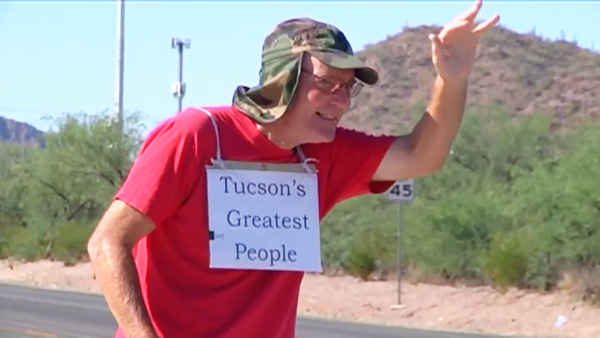 Hi Beams: Arizona Man With Brain Cancer Makes Roadside Smiling His Mission
