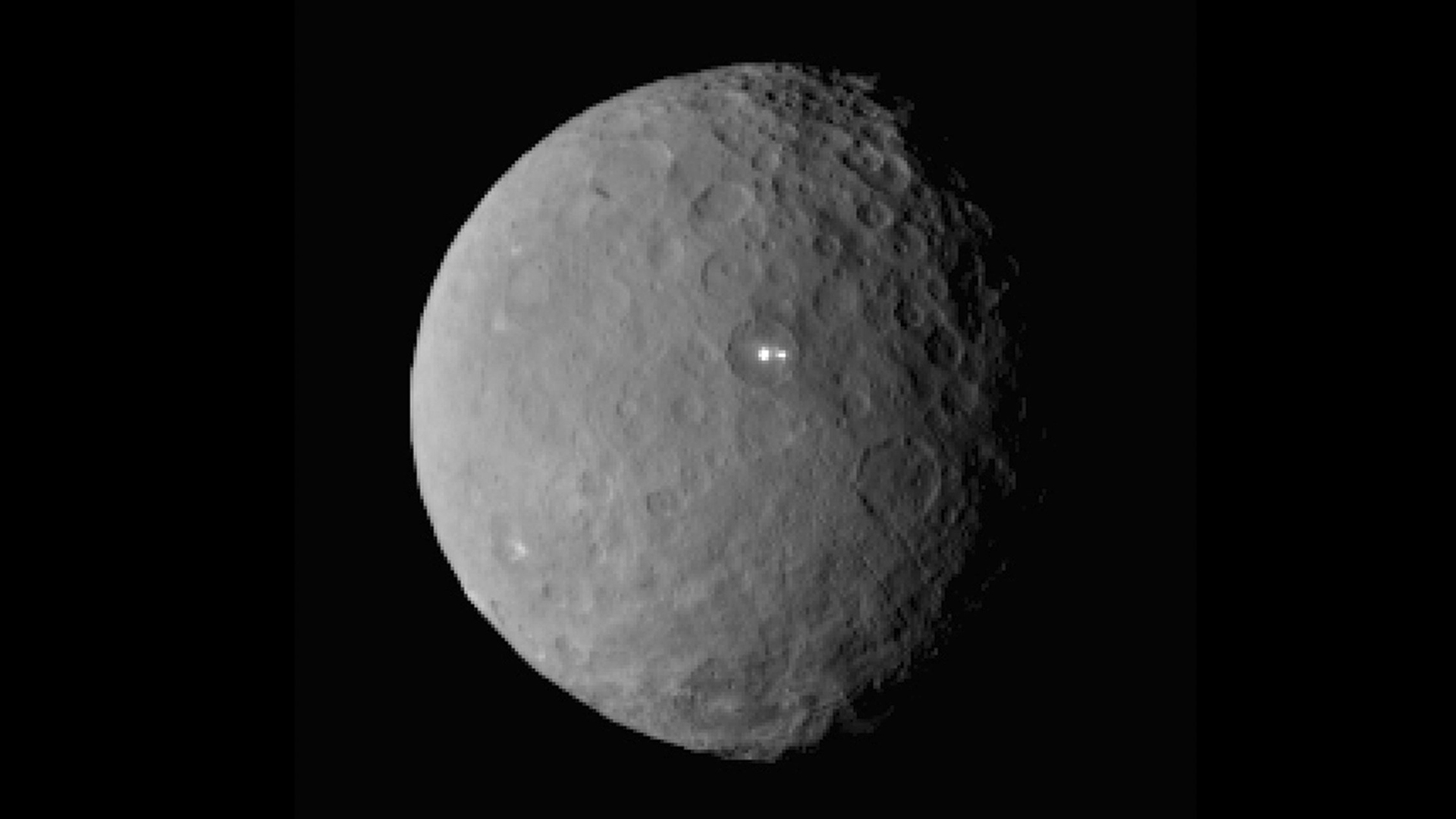 NASA's Dawn Probe Focuses on a Different Mystery Spot on Ceres