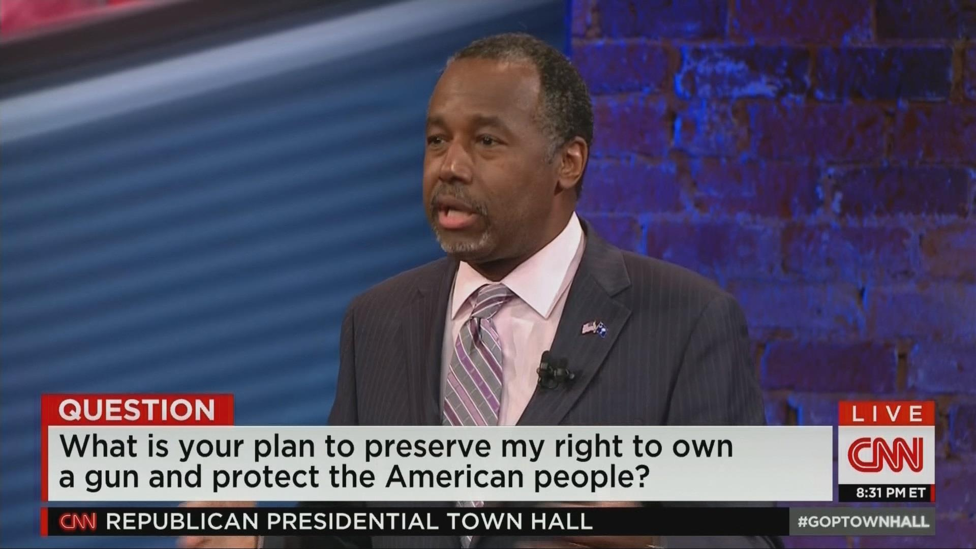 Carson: Makes no sense to take guns away