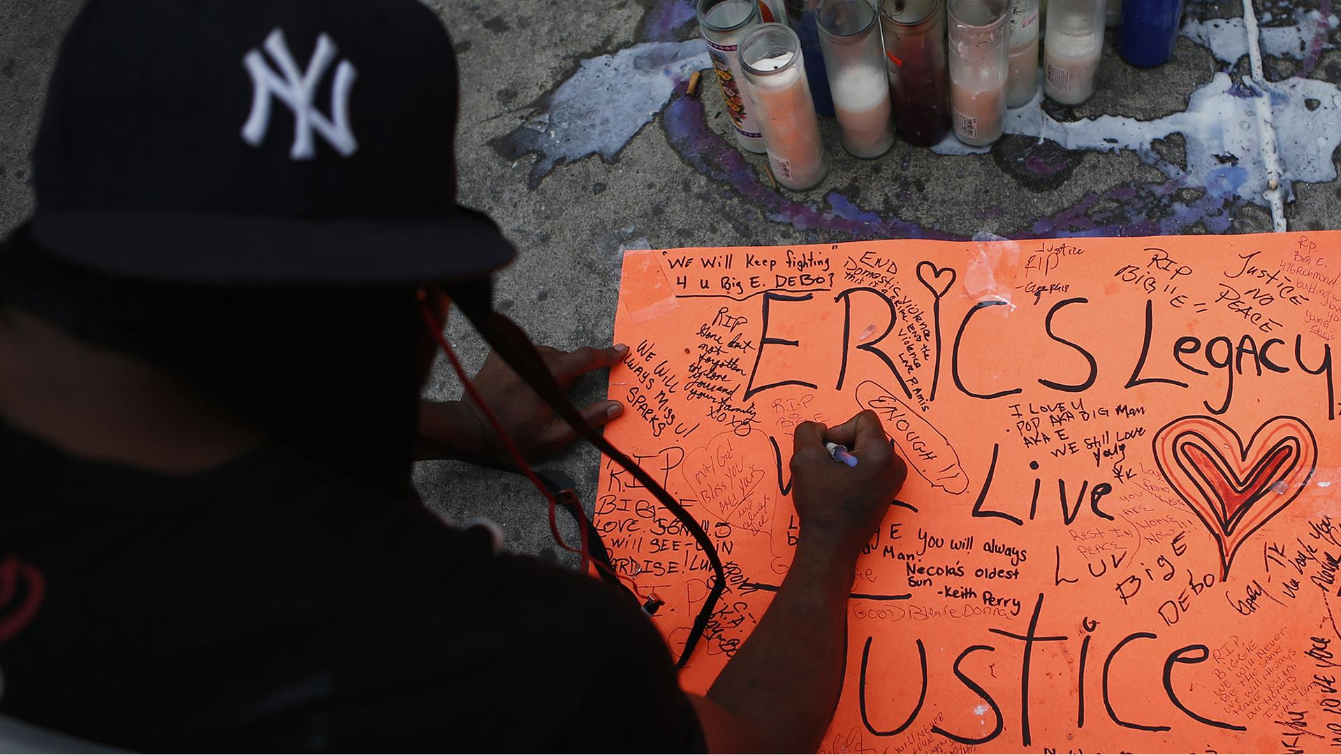 Live video:  Protests following chokehold...