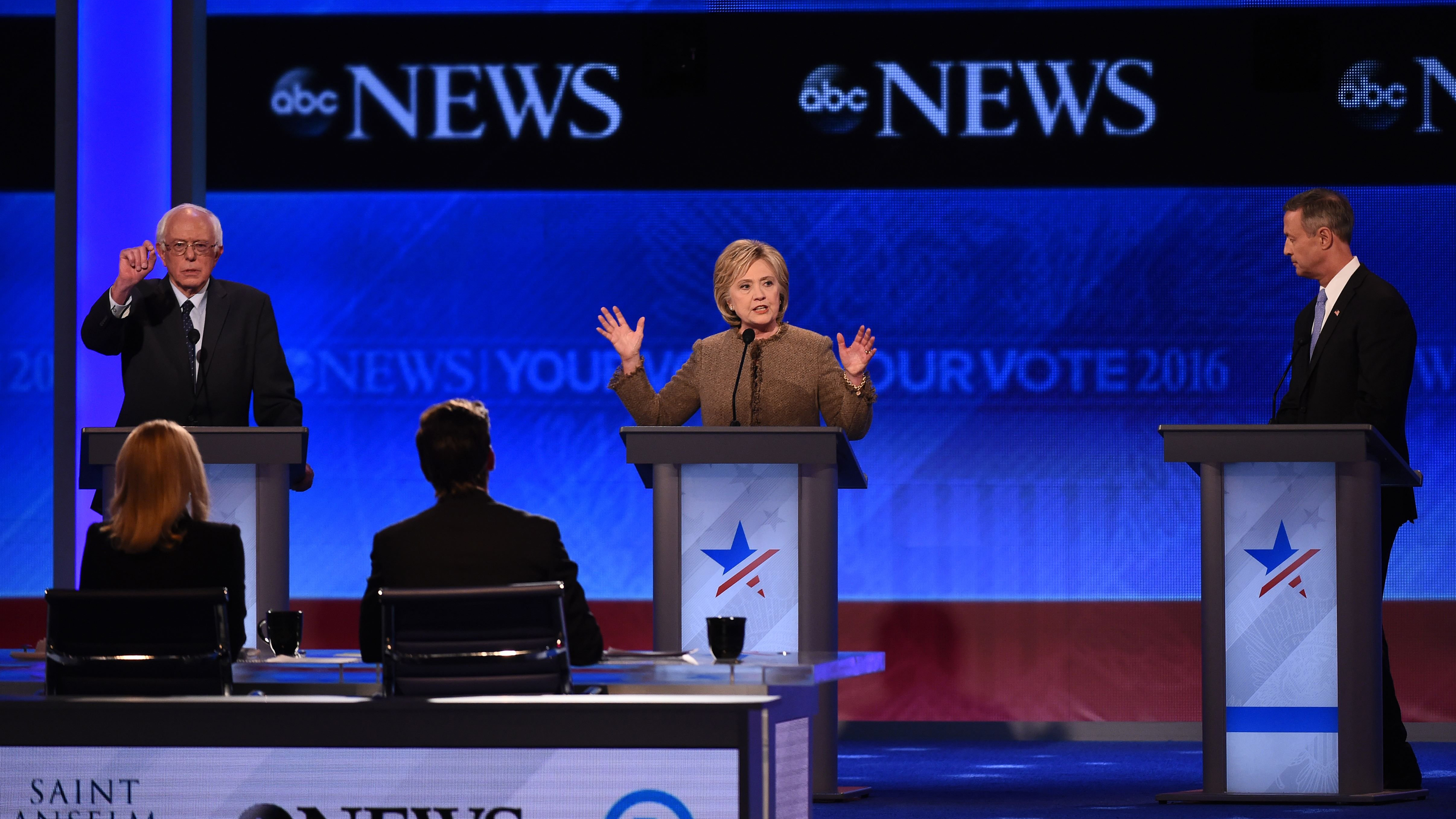 Sparks Fly at Democratic Debate in New Hampshire