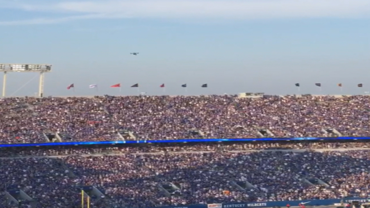 Video Shows Drone Before Crash At Kentucky Football Game