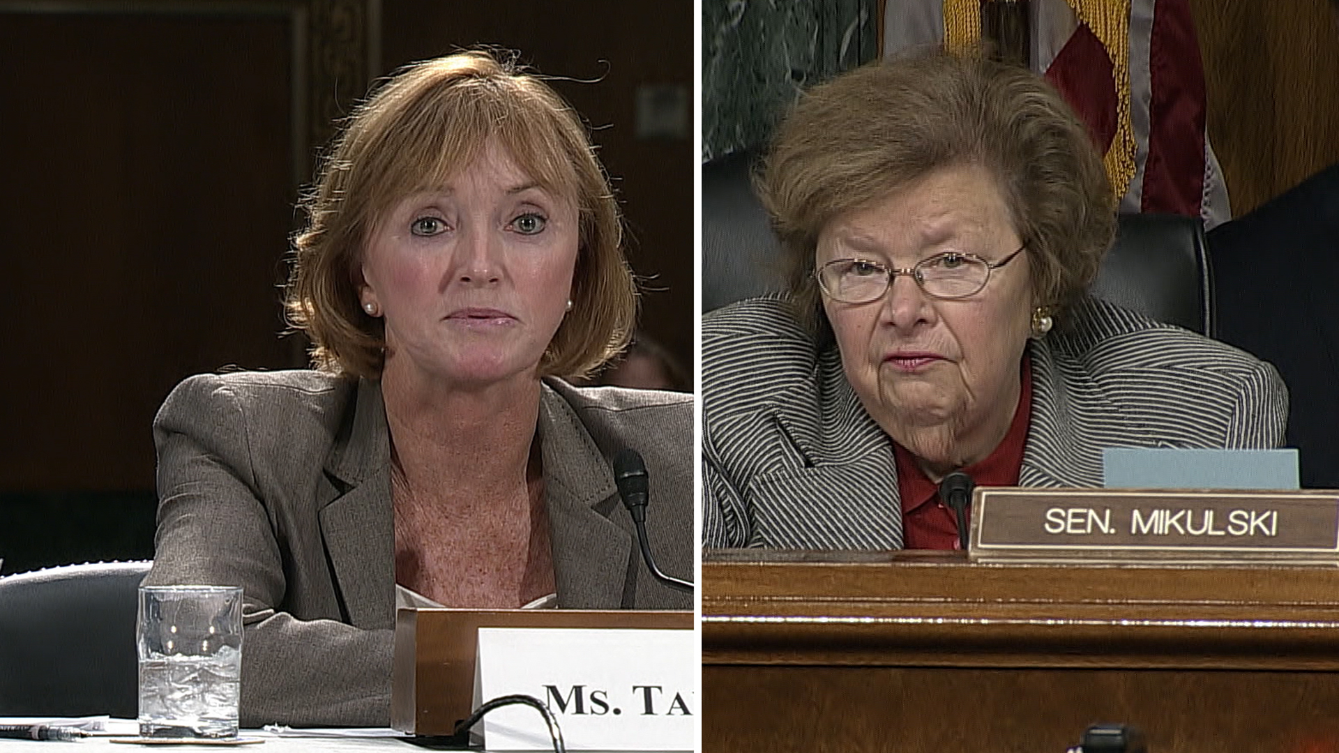 CMS administrator Marilyn Tavenner assures Maryland Senator Barbara Mikulski that the healthcare.gov website will work