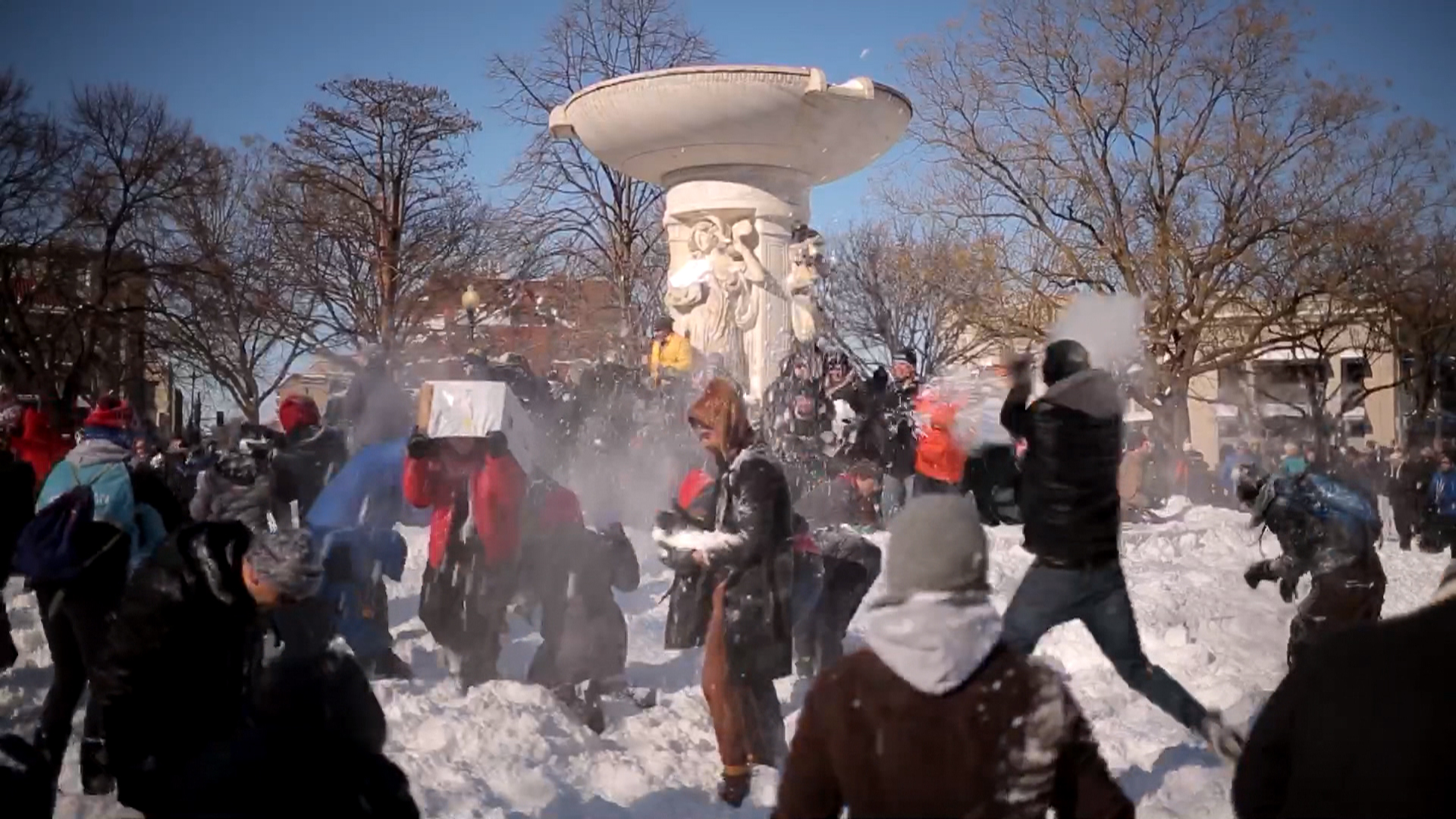 Giant Snowball Fight Erupts in Washington, D C  - NBC News