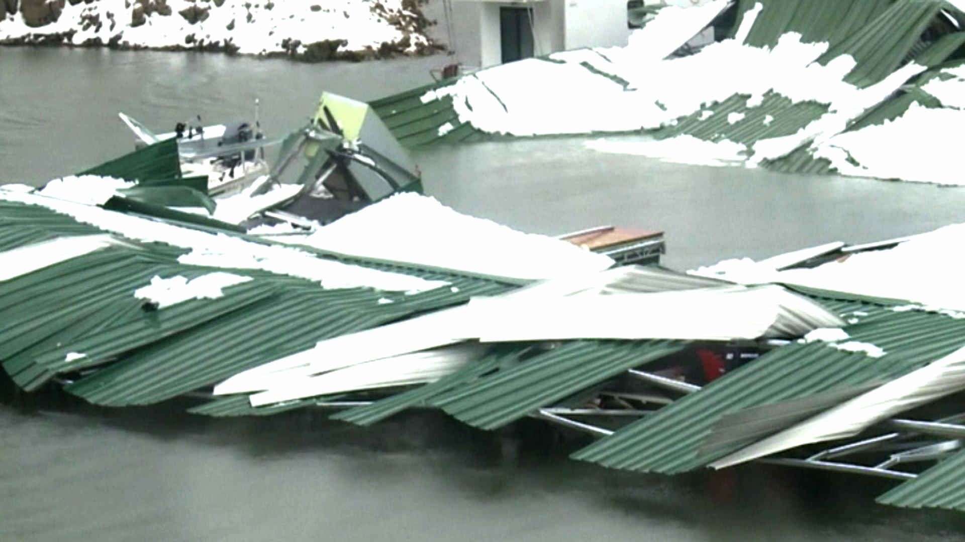 Snow Collapses Marina Roof Nbc News