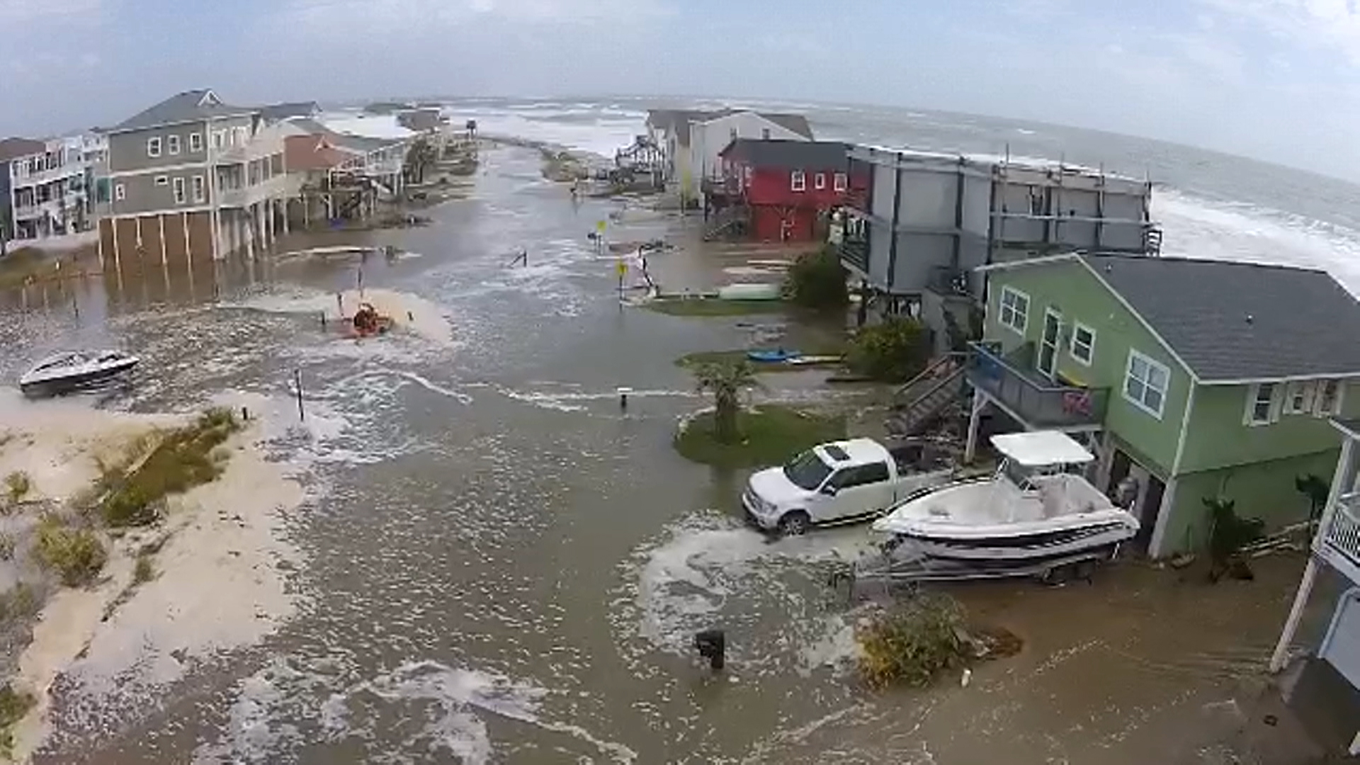Tidal Flooding At N C Beach Captured From Above Nbc News