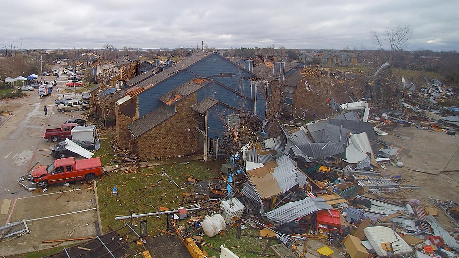 Where Is Garland Texas >> Garland Texas Devastation As Seen From The Air Nbc News