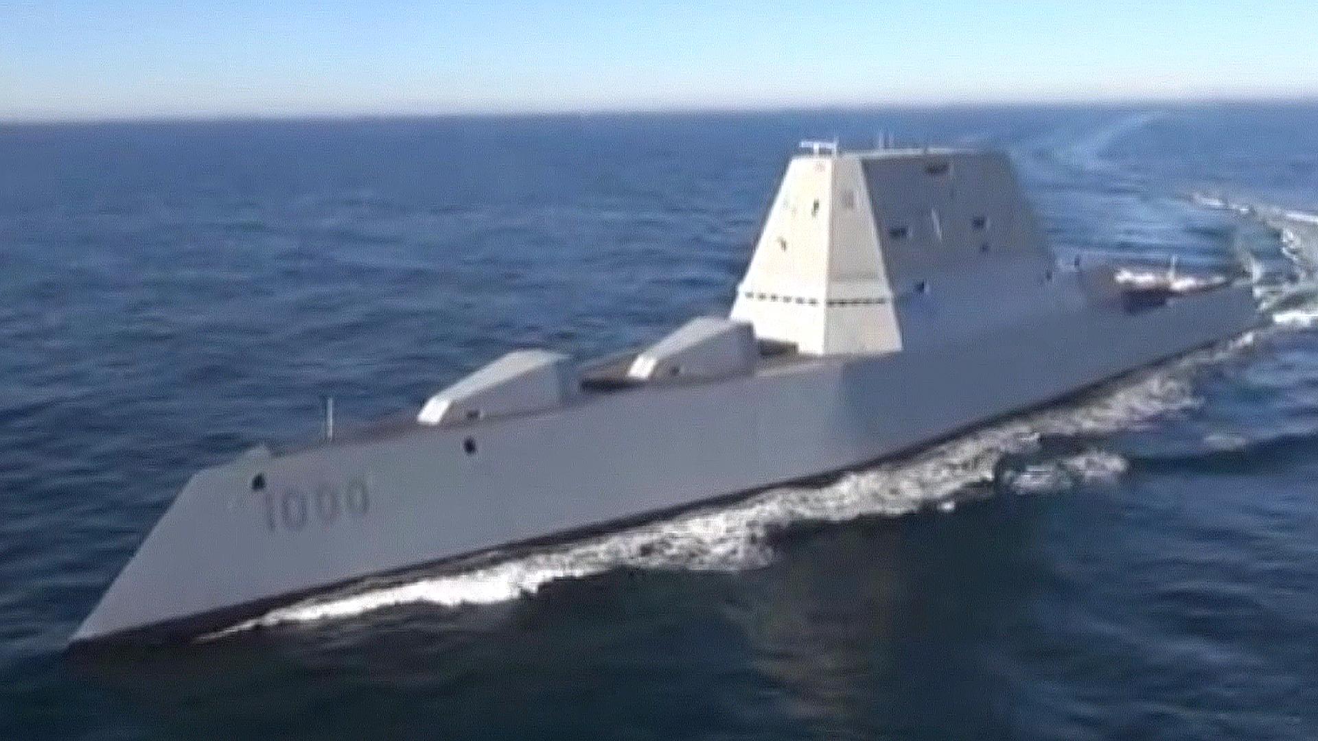 & Watch the USS Zumwalt Conduct Sea Trials - NBC News