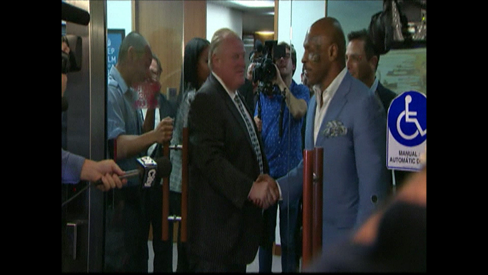 Mike Tyson Visits Toronto Mayor Rob Ford Nbc News