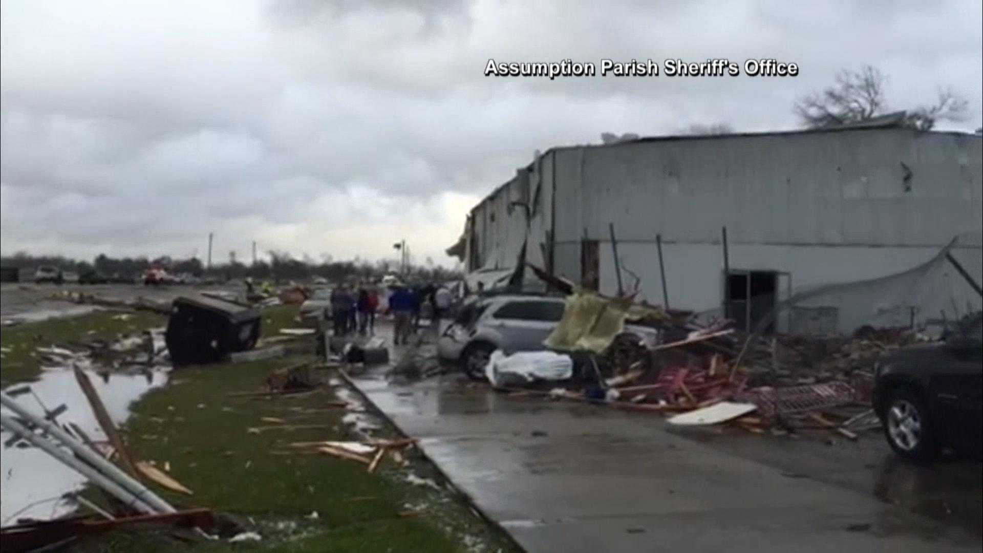 Tornadoes Tear Through Louisiana - NBC News