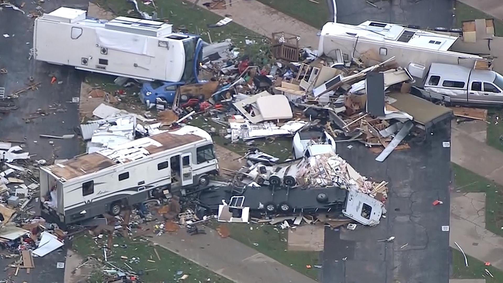 Tornado Destroys Oklahoma RV Park