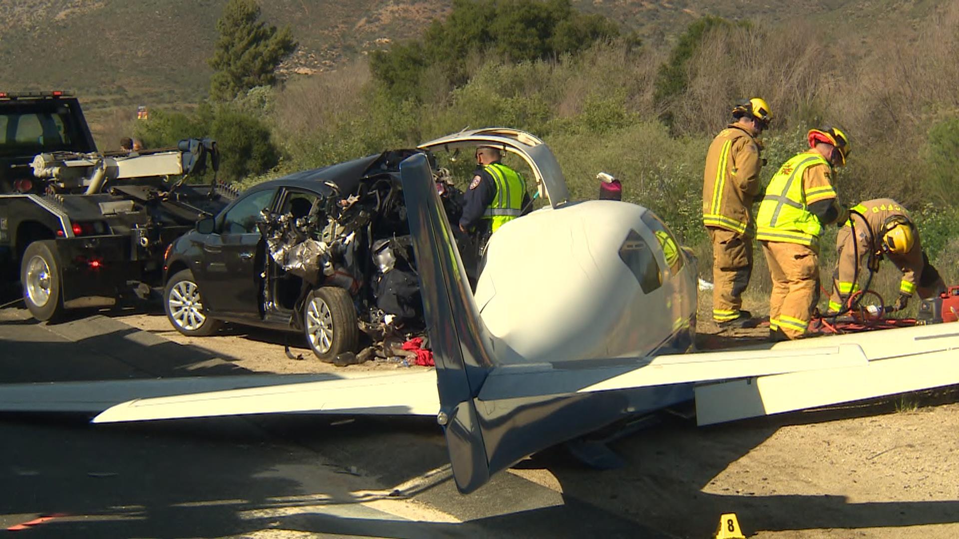 Plane Crashes Onto San Diego, California-Area Freeway, Killing 1, Injuring 5