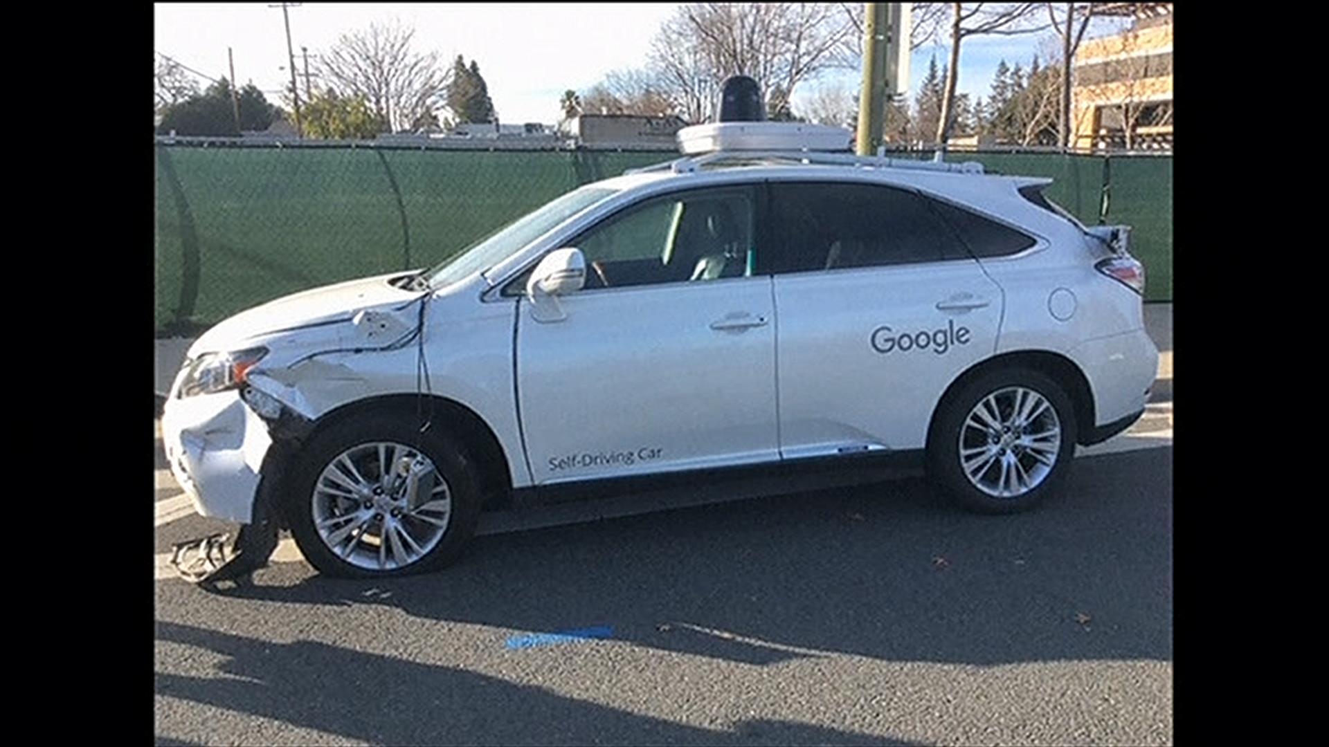 Google Self Driving Suv Hits Bus Nbc News