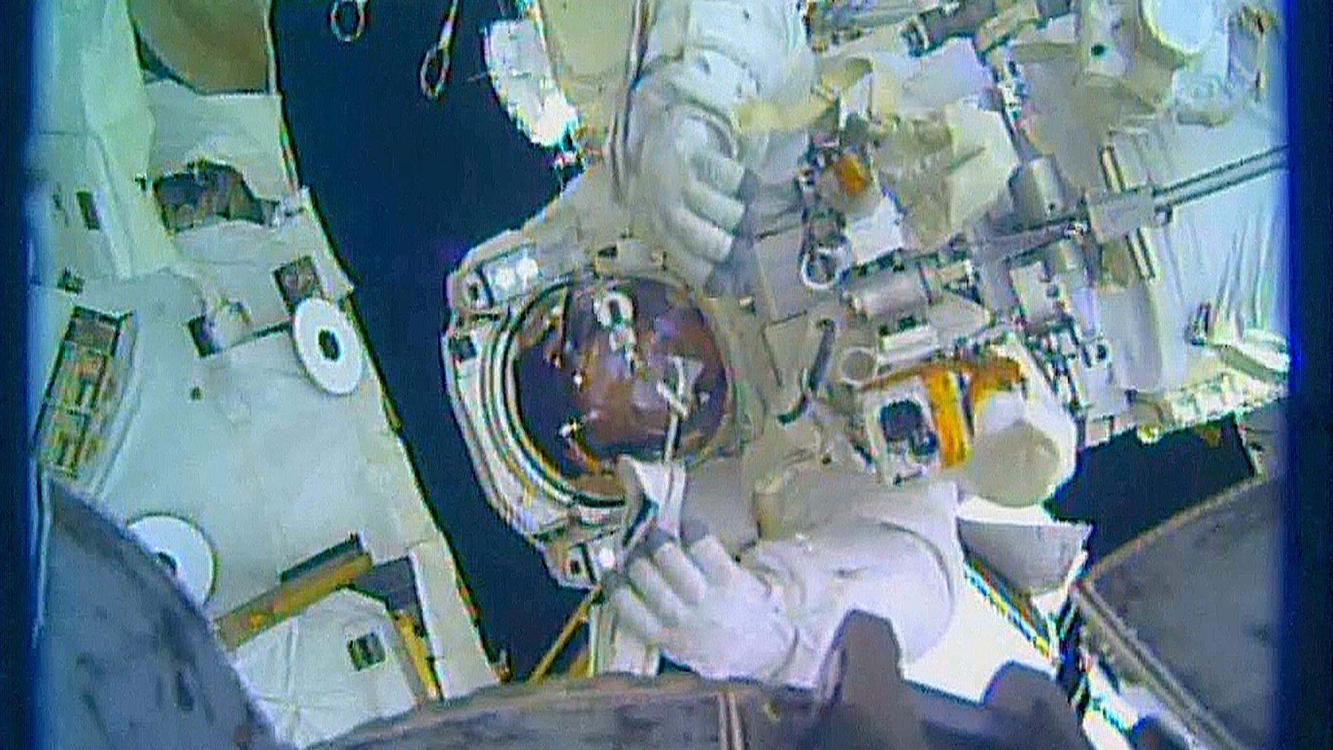 After Spacewalk, Astronaut Reports Water in Helmet