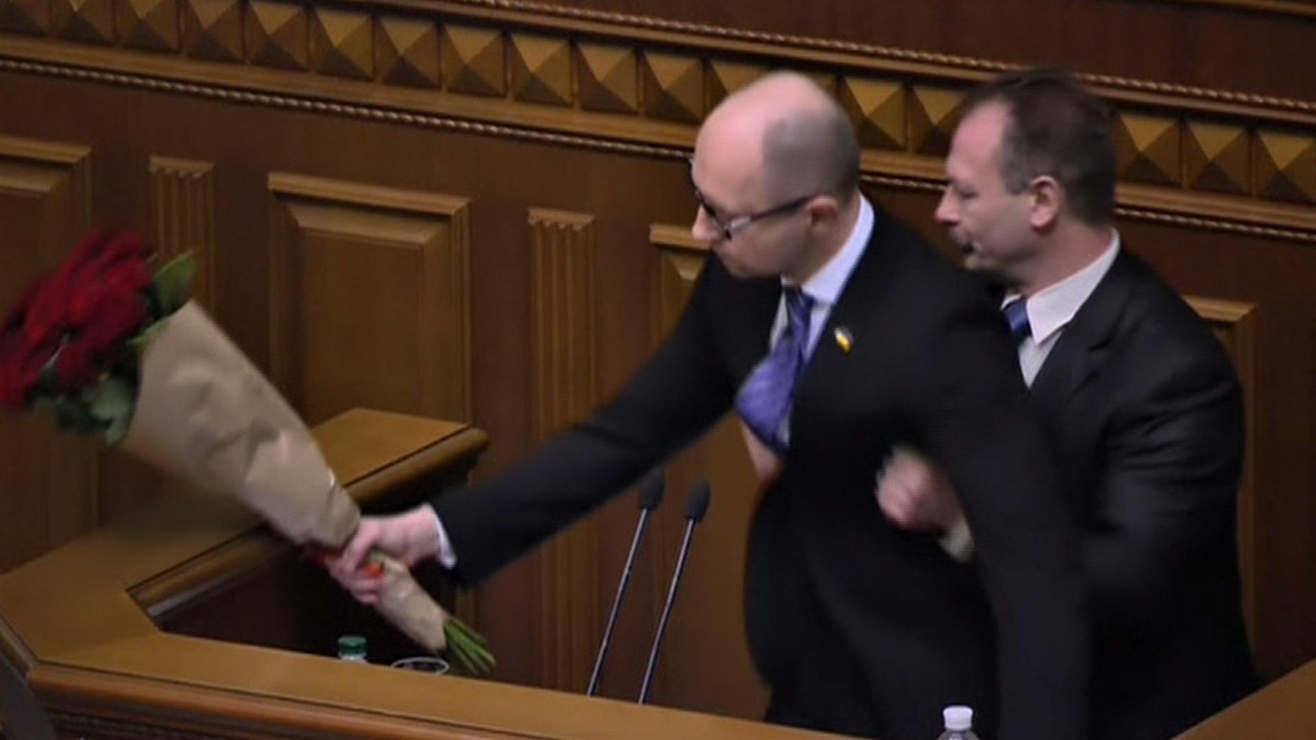 Ukraine Lawmaker Manhandles Prime Minister, Sparking Parliament Brawl