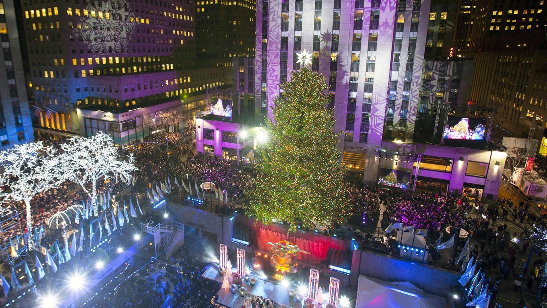 Plaza cam rockefeller center christmas tree nbc news