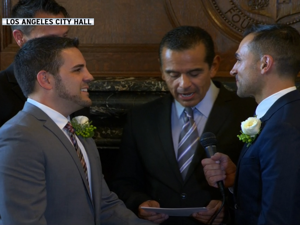 Paul Katami and Jeff Zarrillo wed live on...