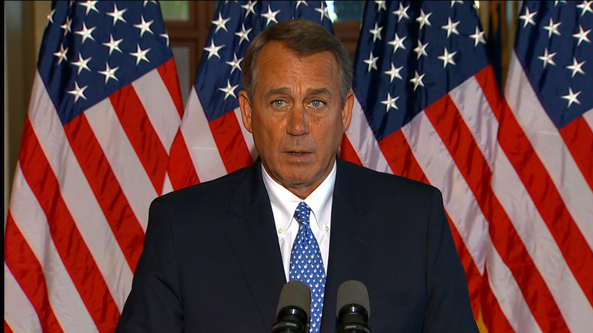 Boehner's new debt ceiling ultimatum