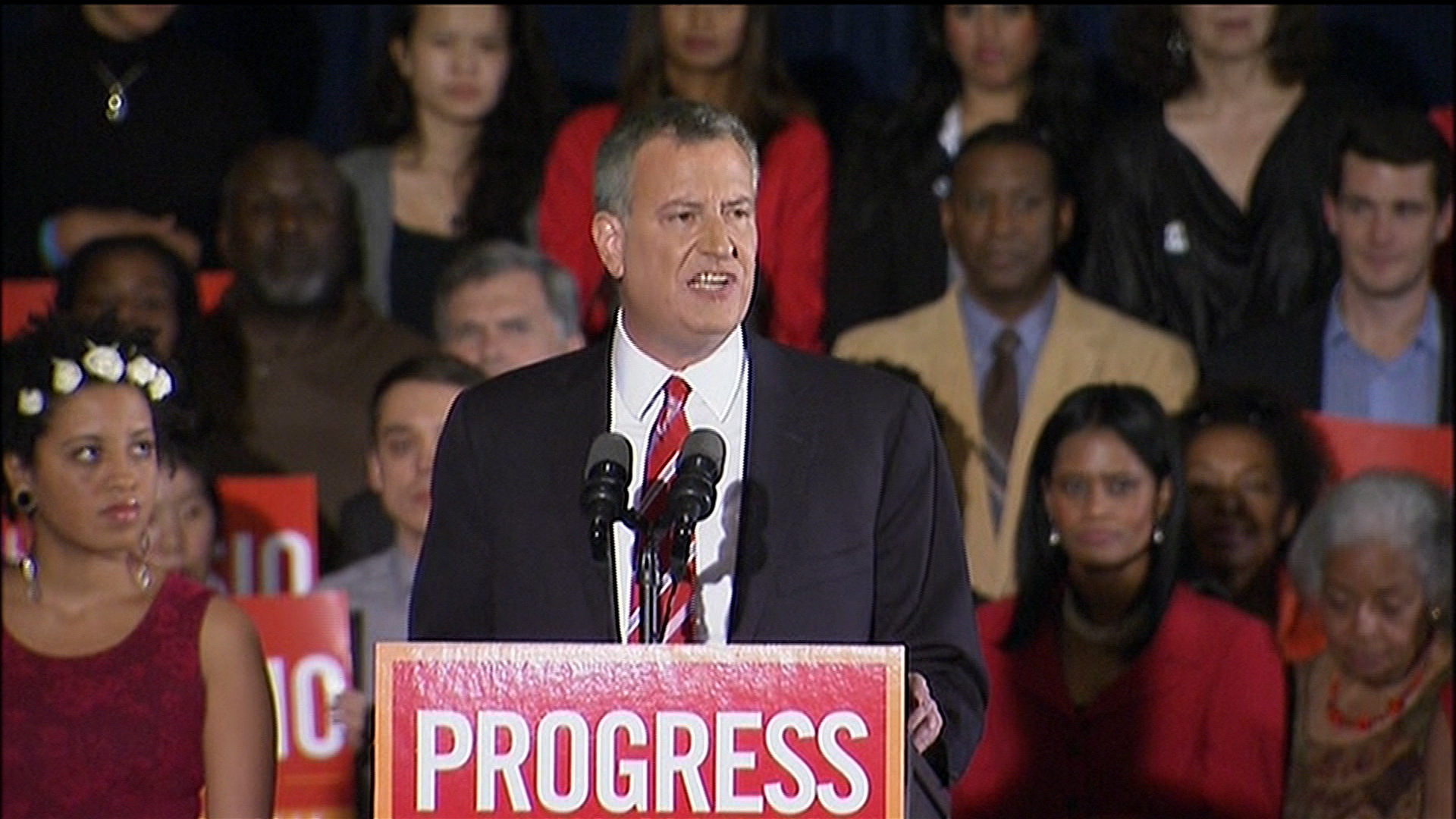 De Blasio turns New York progressive