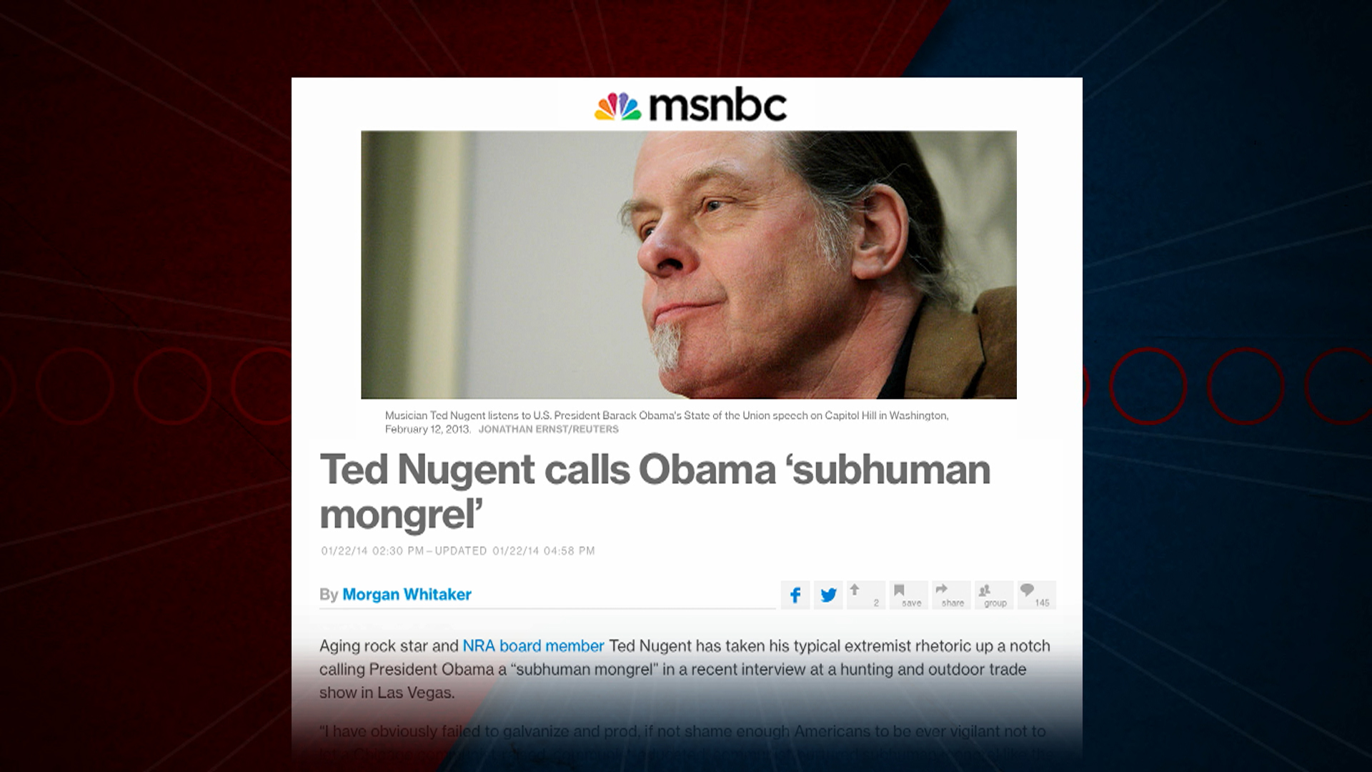 Ted Nugent, Joshua Black make 'wing-nut' list