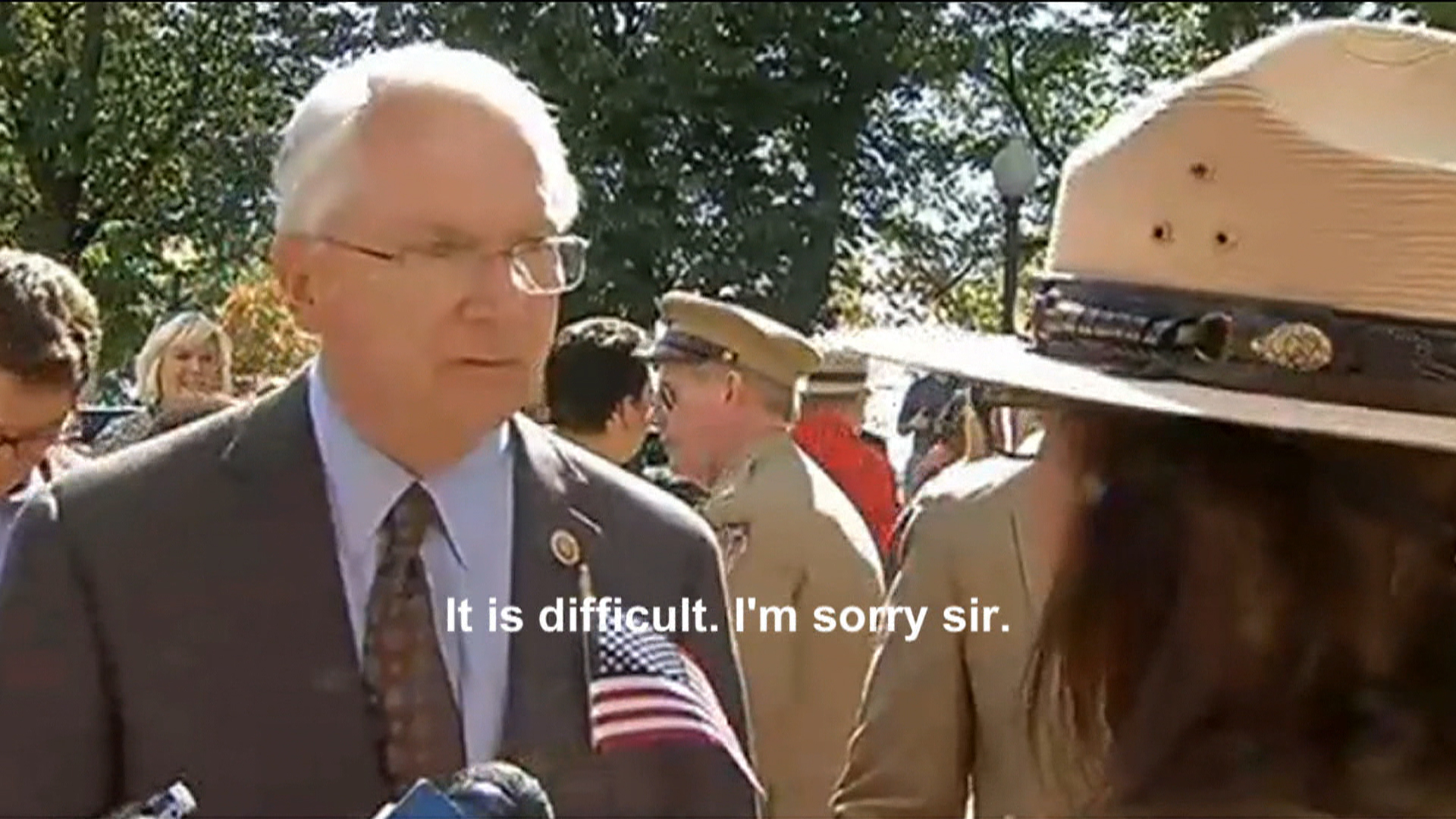 GOP congressman berates Park Service worker