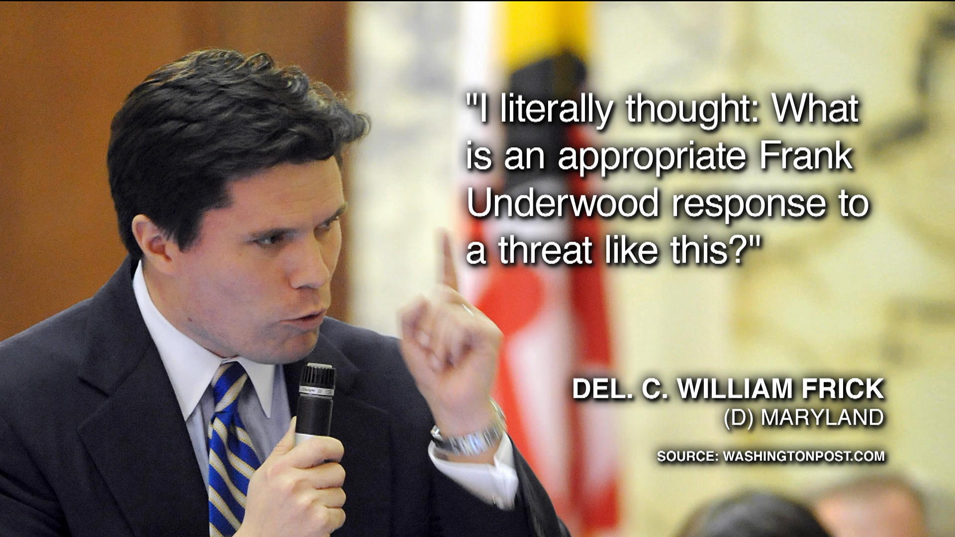 Lawmaker pulls a Frank Underwood on 'Cards...