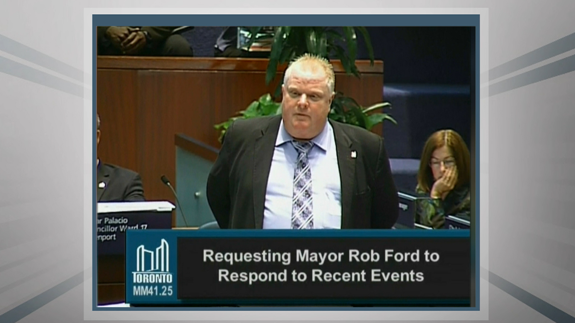 rob ford and toronto city council A raucous city council meeting in toronto on monday descended into farce when bumbling mayor under fire rob ford managed to knock over a city councilor as he charged.
