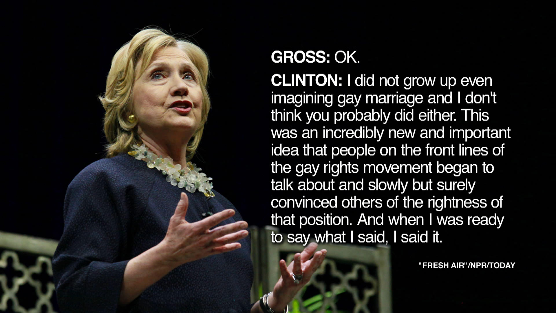Hillary Clinton's awkward gay rights...