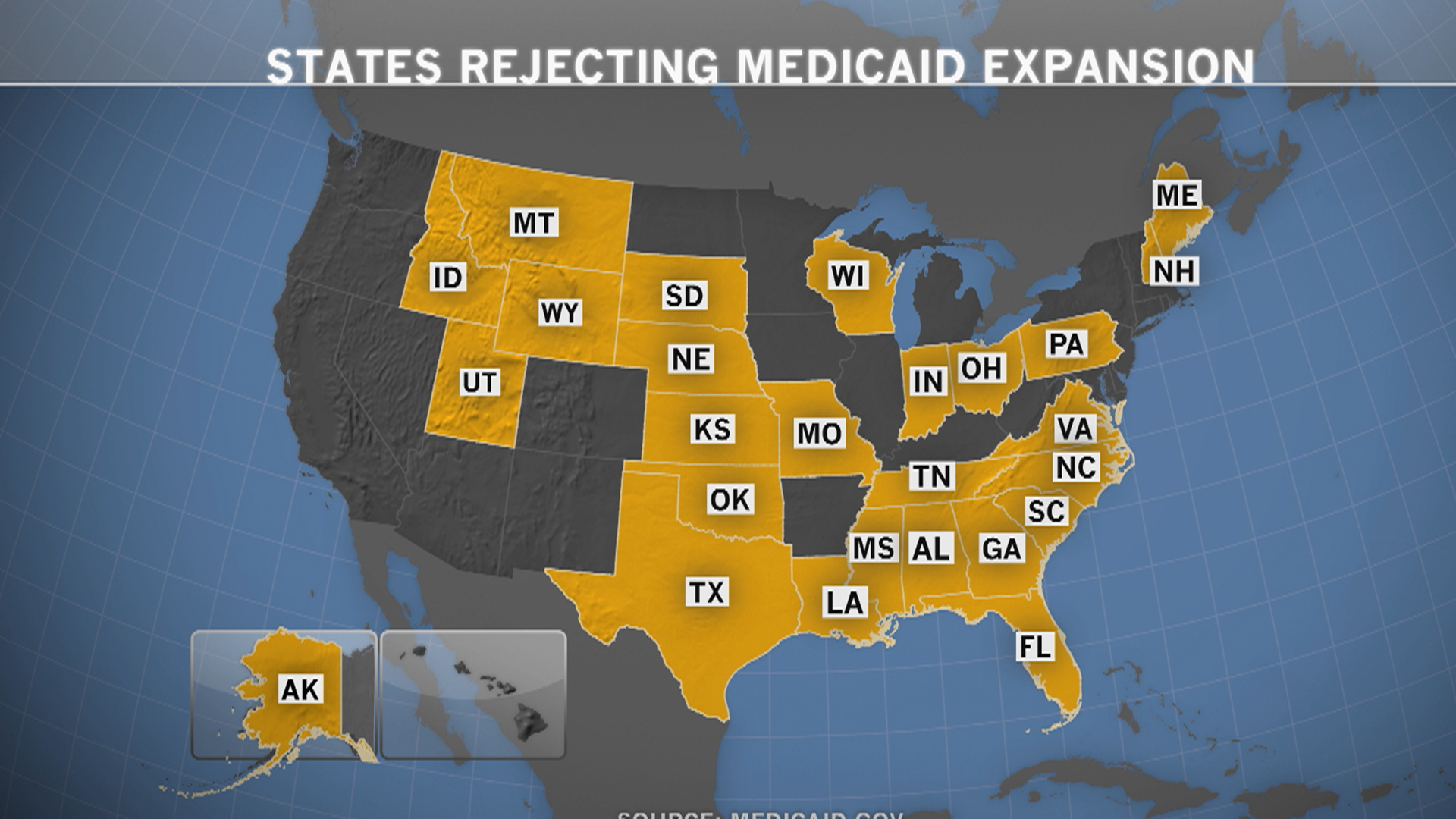 26 states reject Medicaid expansion
