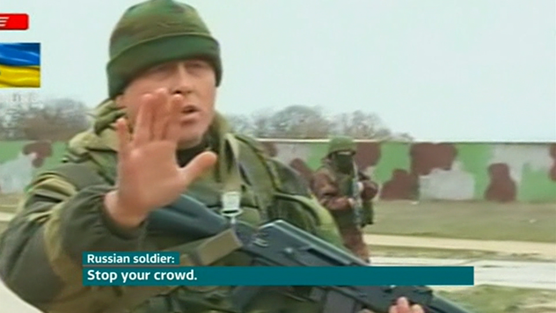 Shots ring out over Crimea