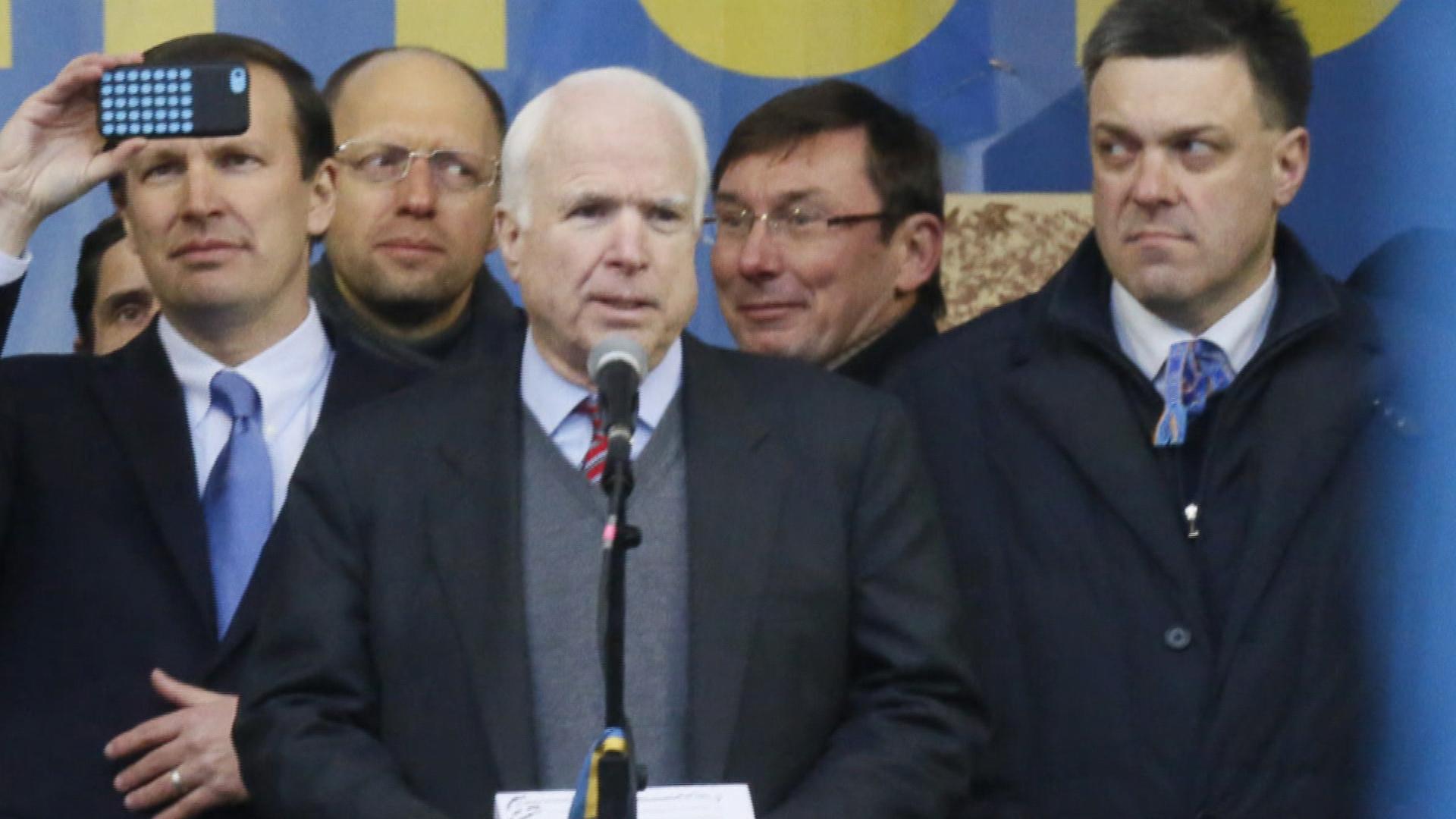 John McCain loves picking sides