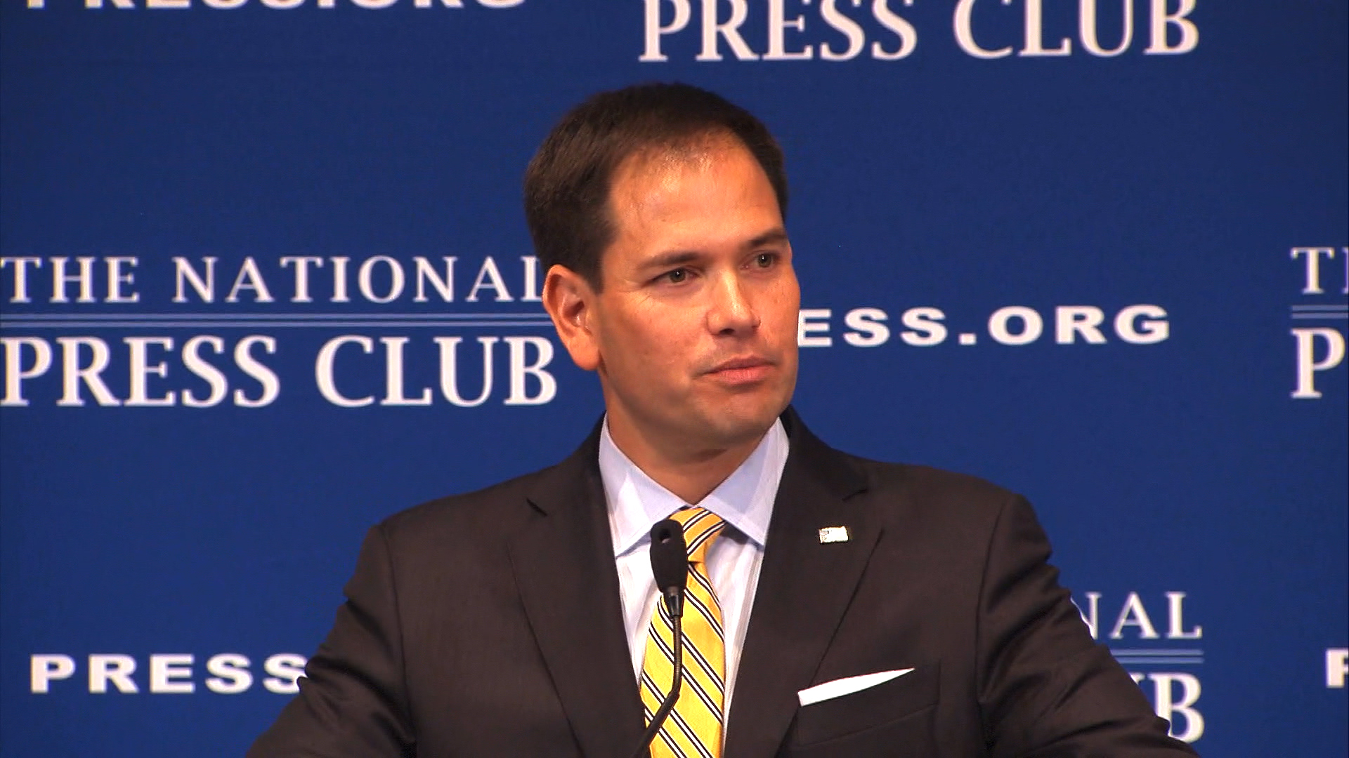 Rubio's rough response to pot question