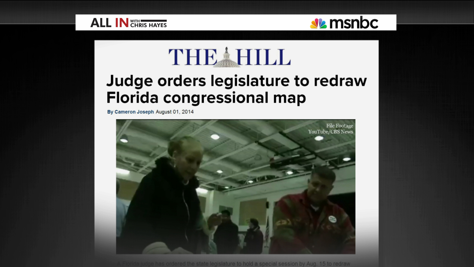 Florida redistricting draws ire from judge