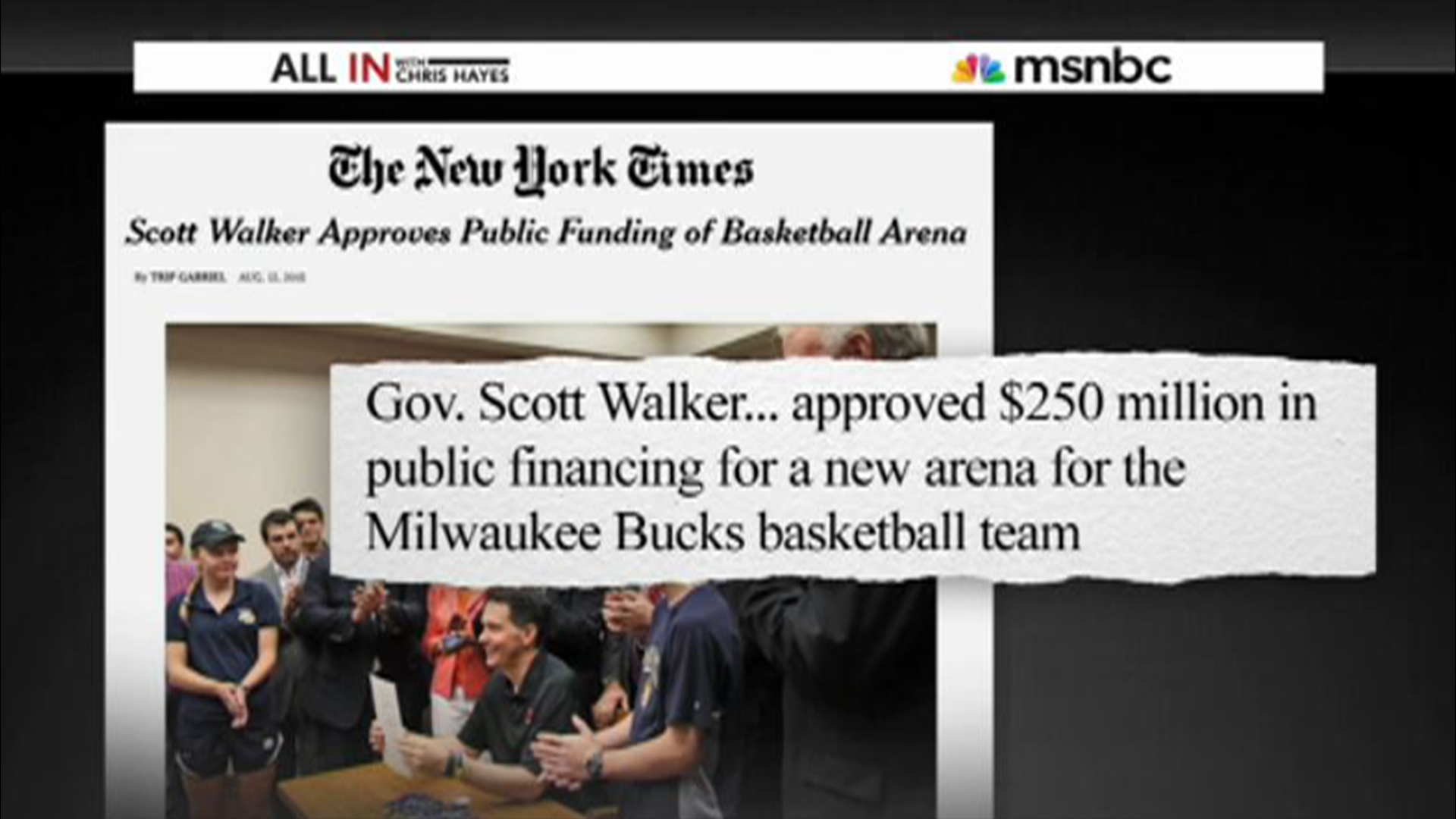 Walker OKs giving taxpayer money to...