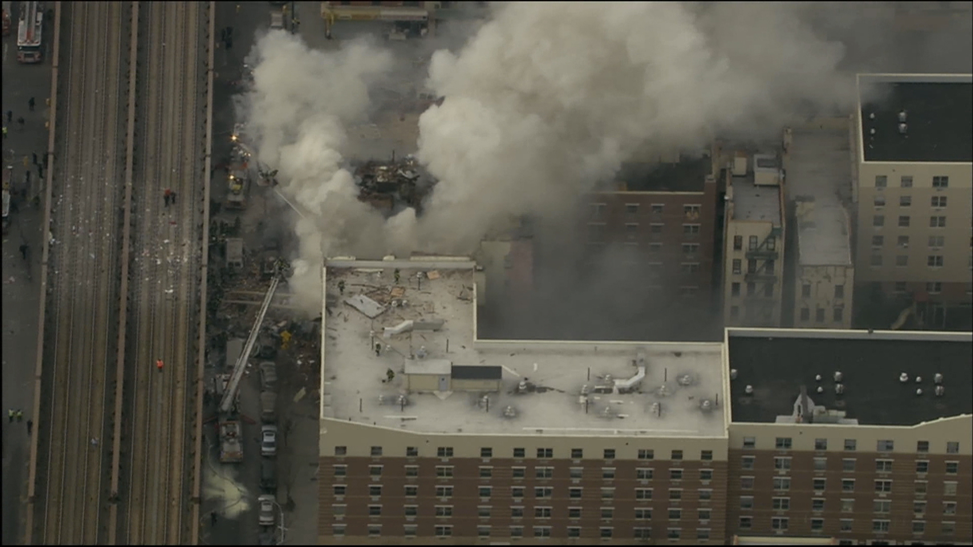NYC buildings explode, collapse