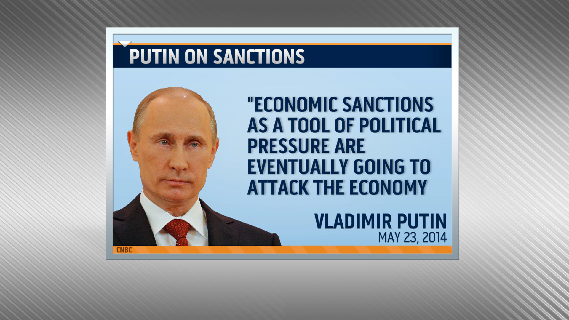 Putin says sanctions are impacting Russia