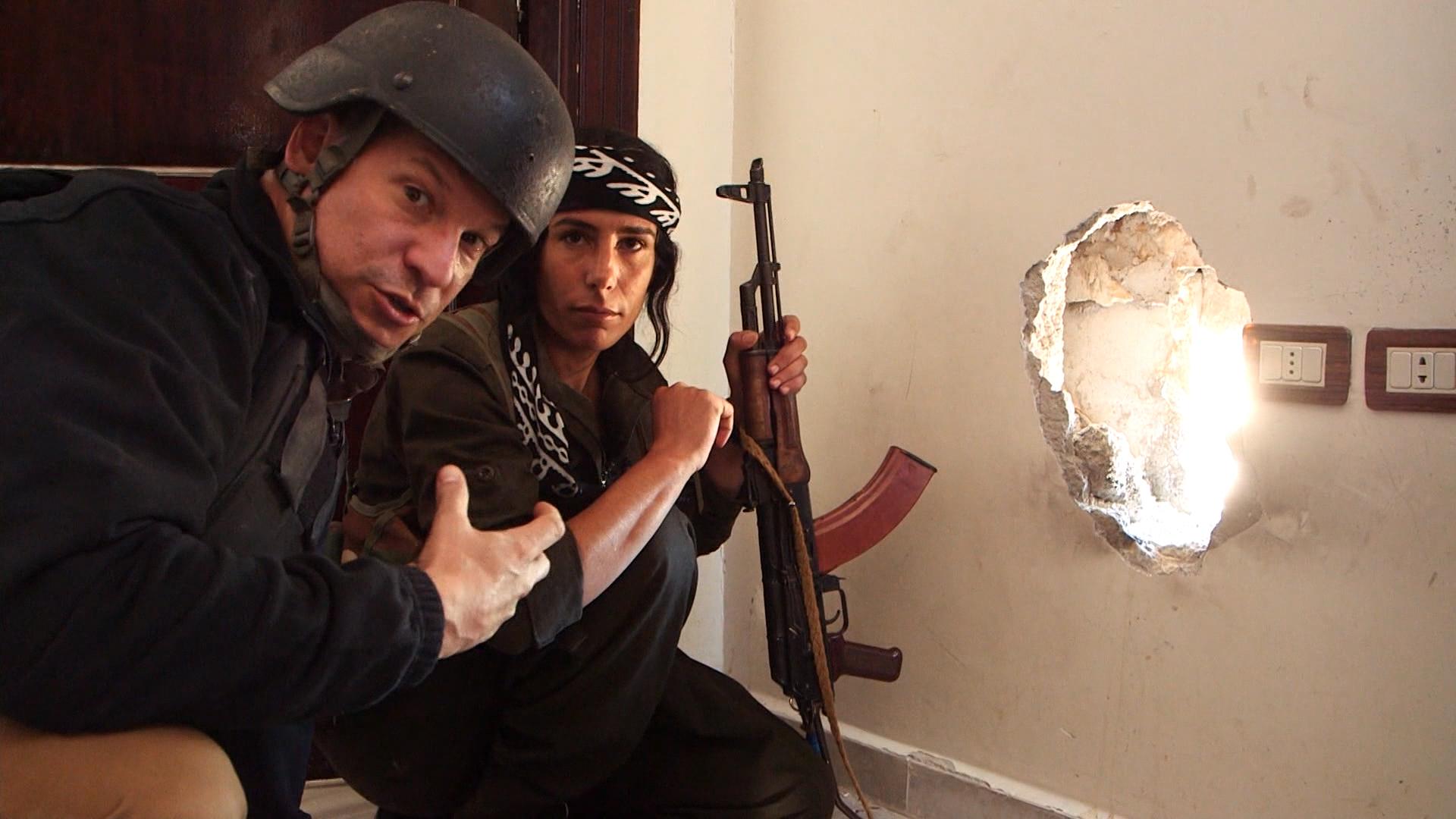Engel first US correspondent in Kobani