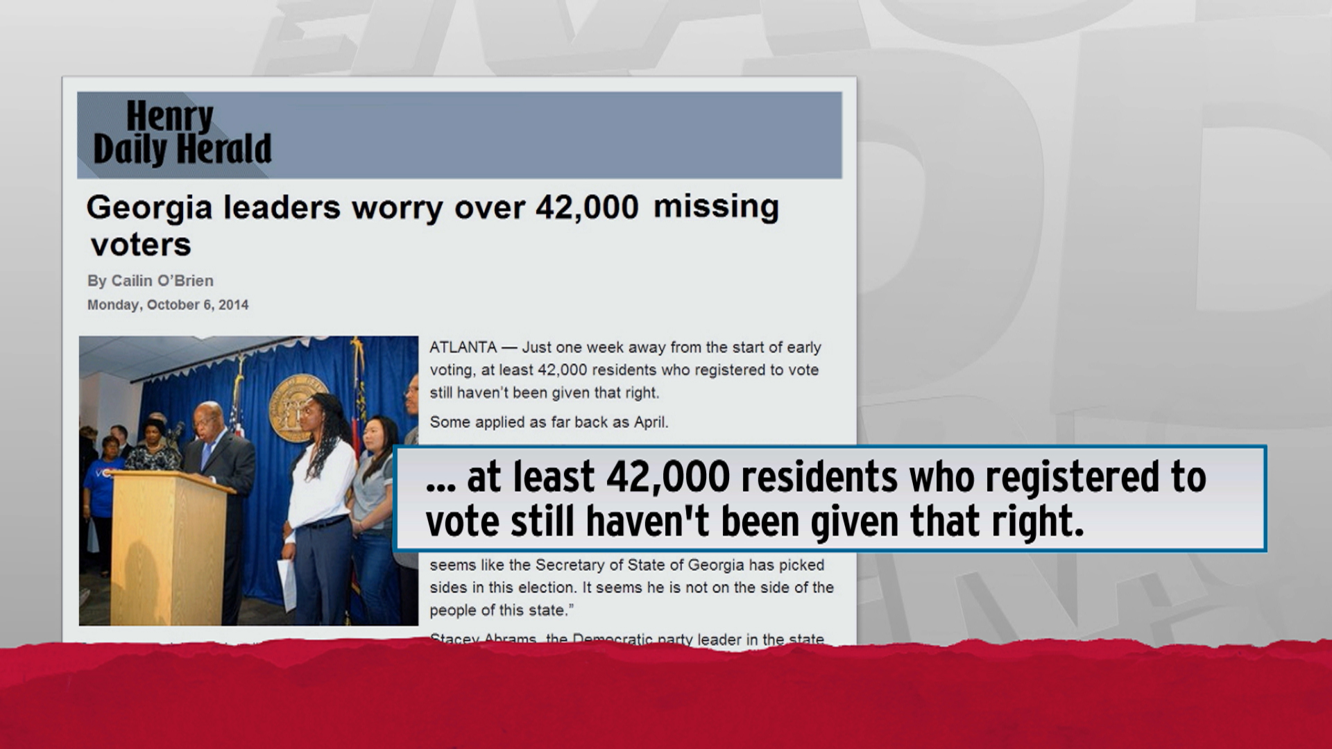 Fight over missing voter forms heats up